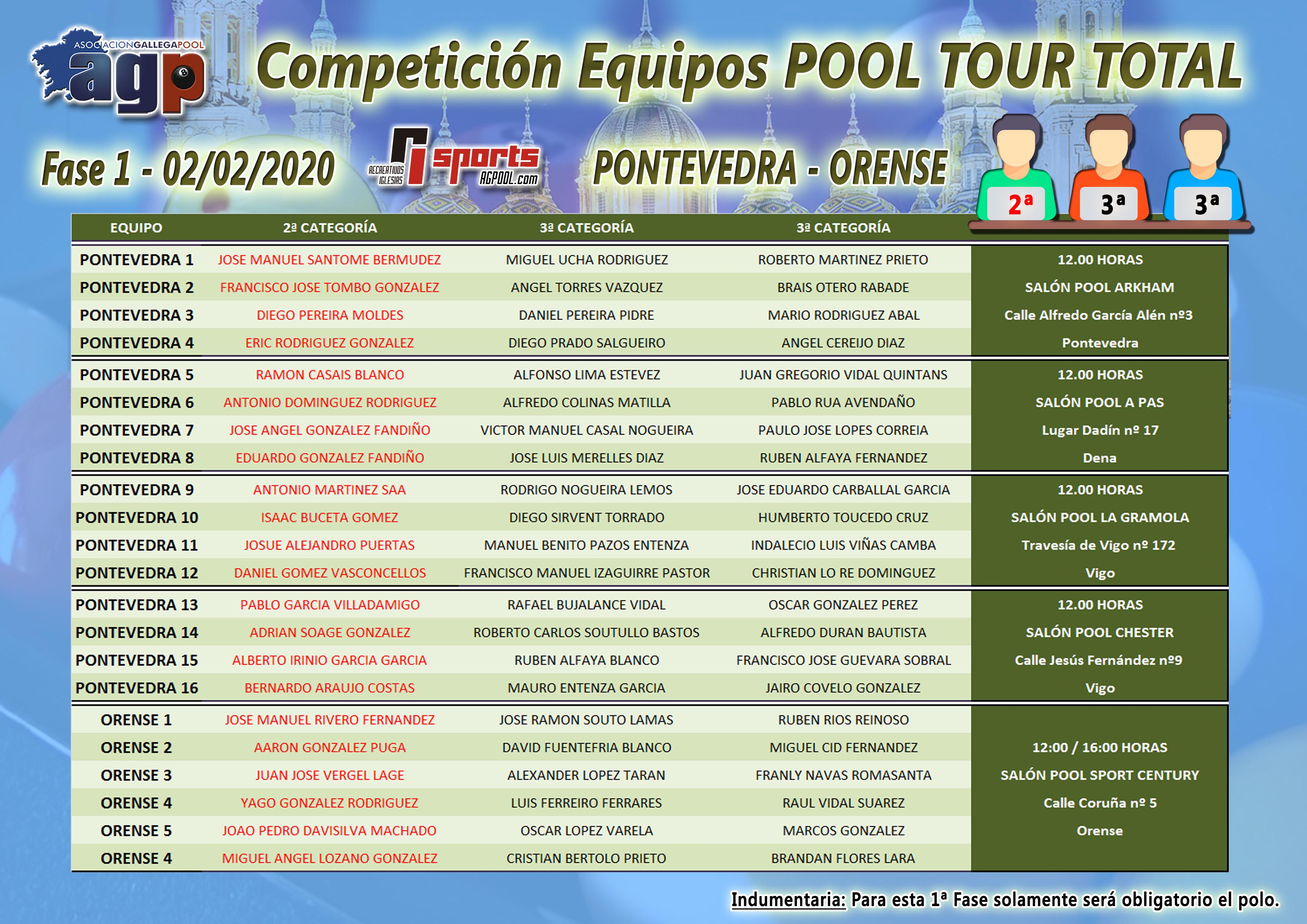 Competición de Equipos Pool Tour Total - Fase 1